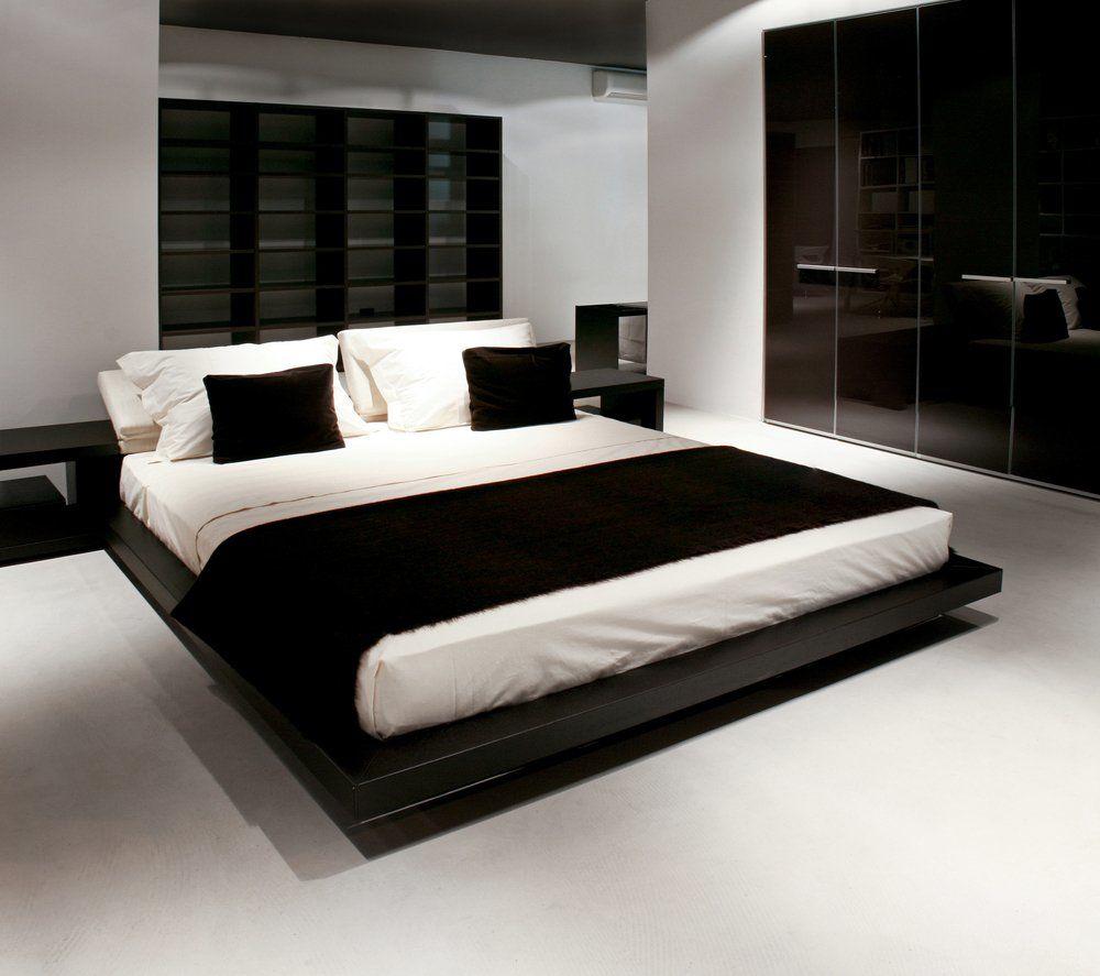 Beispiele Modernes Wohnen Schlafzimmer Boxspringbett Leder