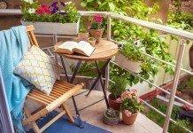 Balkon Balkonsichtschutz Pflanzen Entspanung