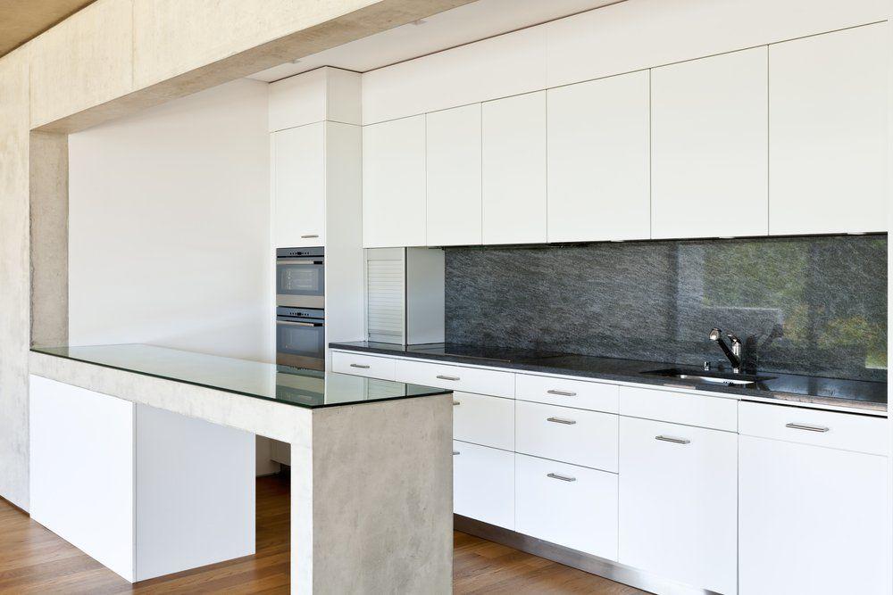 Wunderbar Beton Design Küche Küchentisch Optik