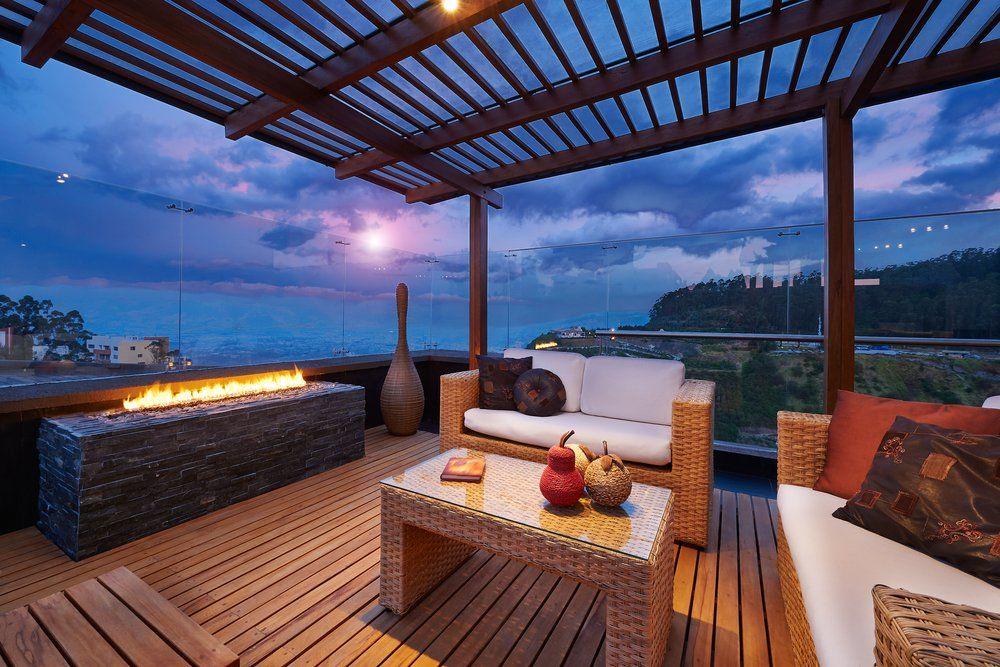 Terrasse Mit Holzboden