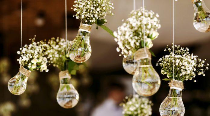 Hochzeitdekoration Glas Kugel Vasen Blumen