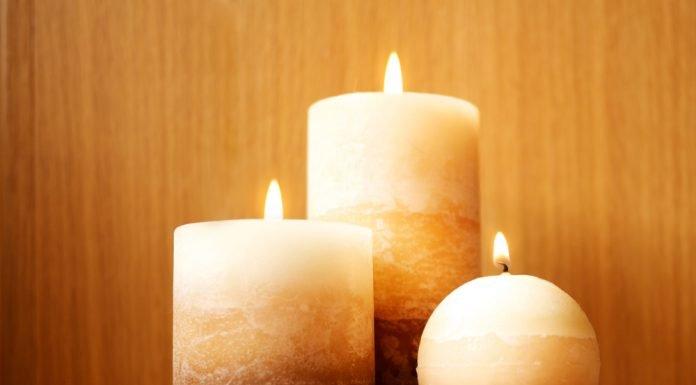Kerze Dekoration Drei Kerzen