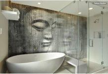 Badezimmer mit Glas - Duschkabine Sicherheitsglas