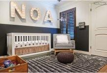 Kinderzimmer Schickes Grau - Bett Sessel