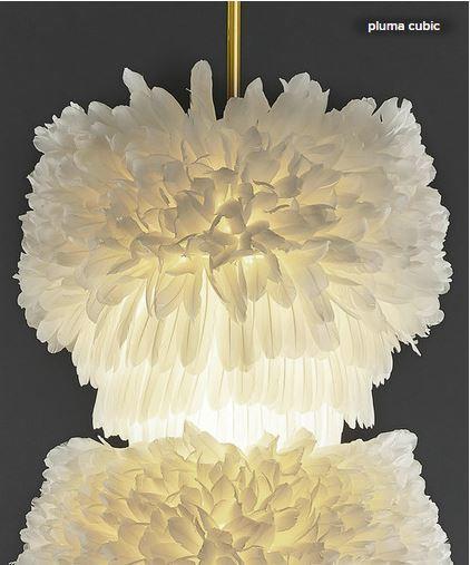 Leuchte Pluma Cubic - Figura Spossa