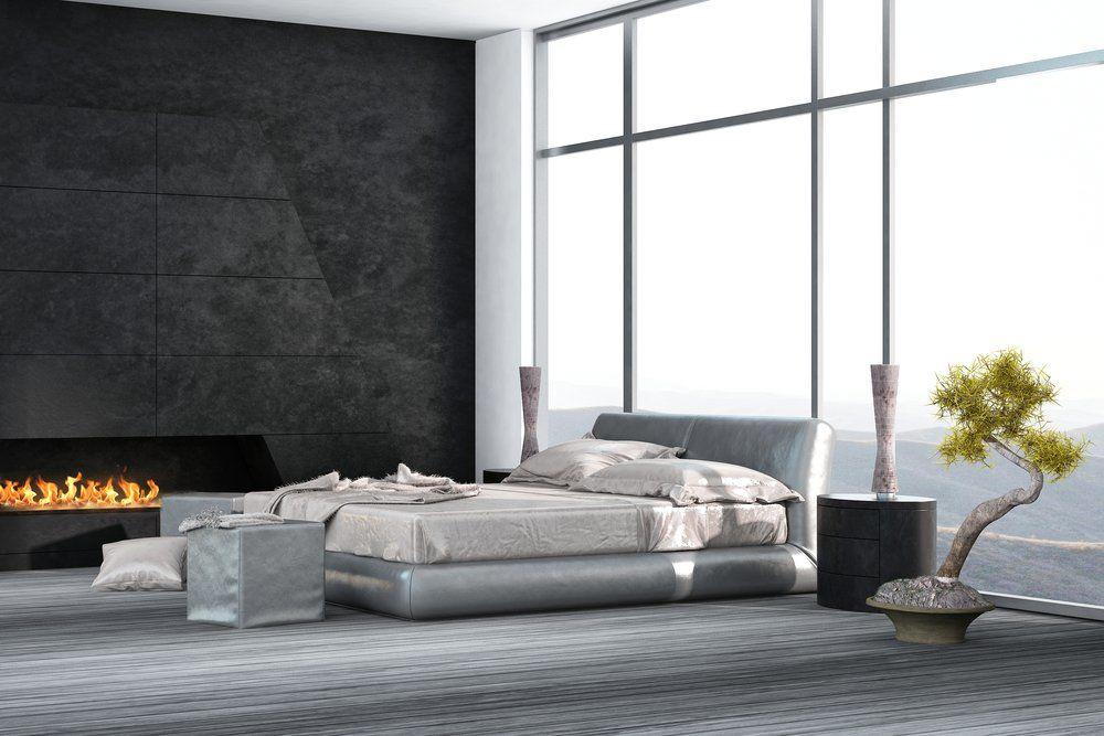 Best schlafzimmer schwarz photos for Wandfarbe kamin