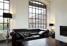 Schwarzes Wohnzimmer - Sofa Schwarz