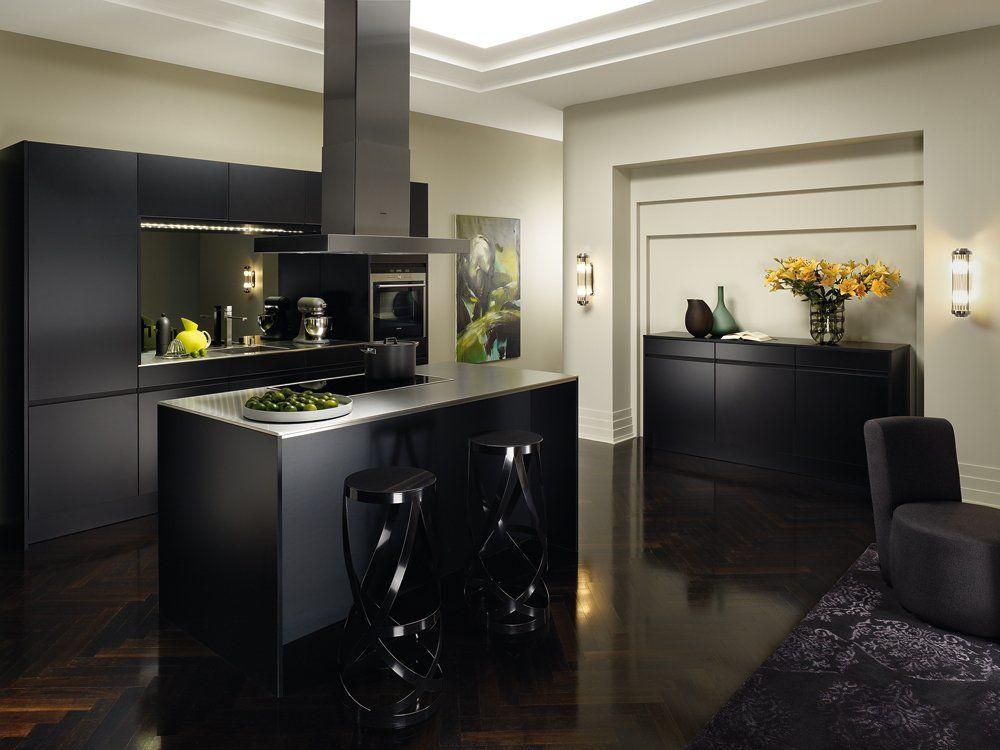 Wohnküche siematic sc 66 k schwarz