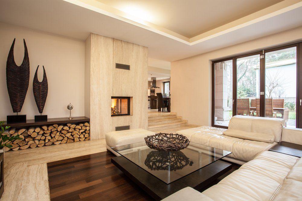 Natur Im Wohnzimmer   Wandgestaltung Holz