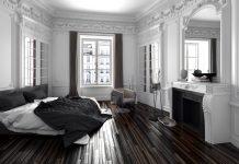 Schwarzes Schlafzimmer - Altbau Flair