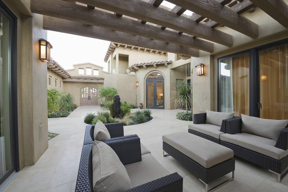 Lounge Gartenmöbel - Dezente Farbgestaltung