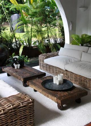 Wunderschönen Gartenmöbel Geflochten