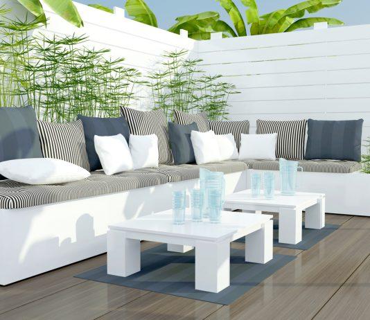 Lounge Gartenmöbel - Lounge in Weiss