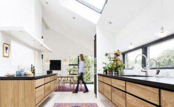 Moderne Holzküchen - Mit Teppich