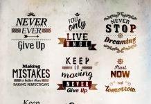 Poster mit Sprüchen