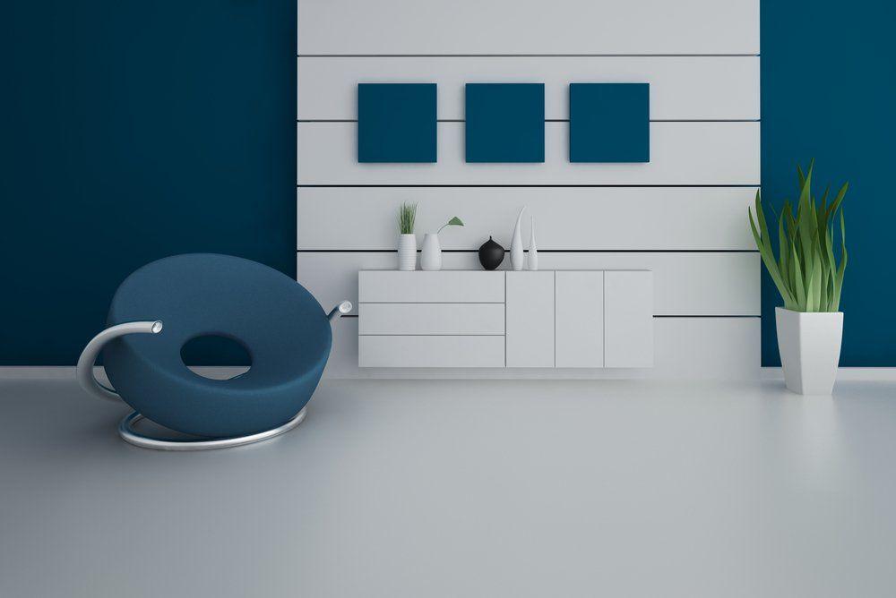 Wohninspiration Blau   Wohnzimmer Sessel