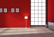 Wohninspiration Rot - Wandfarbe Wohnzimmer