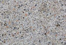 Fussbodenbelag aus Marmorkies - Feine Struktur