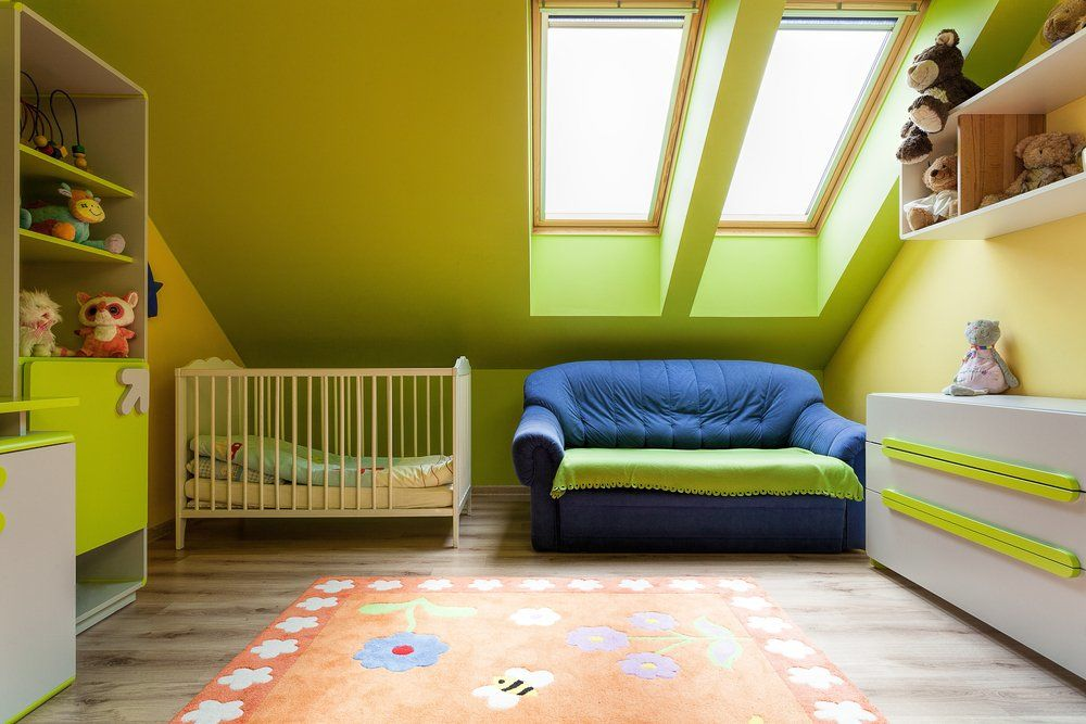 Grüne Deko Inspirationen   Dachgeschoss Kinderzimmer
