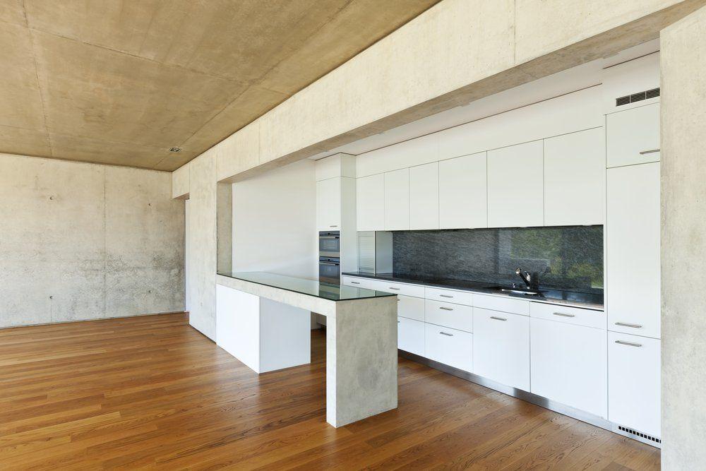 Küchen aus beton und stein weisse küche