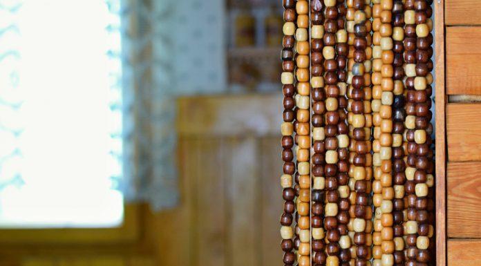 Perlenvorhang - Holzperlen