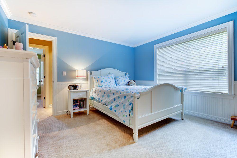 Wohnzimmer Und Schlafzimmer In Blau   Schlafzimmer Wandfarbe