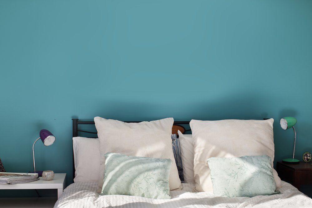 Wohnzimmer Und Schlafzimmer In Blau   Türkis