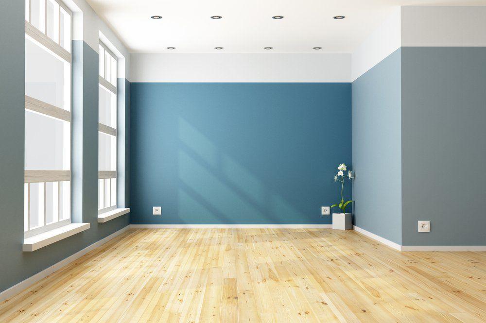Wohnzimmer Und Schlafzimmer In Blau   Wandfarbe