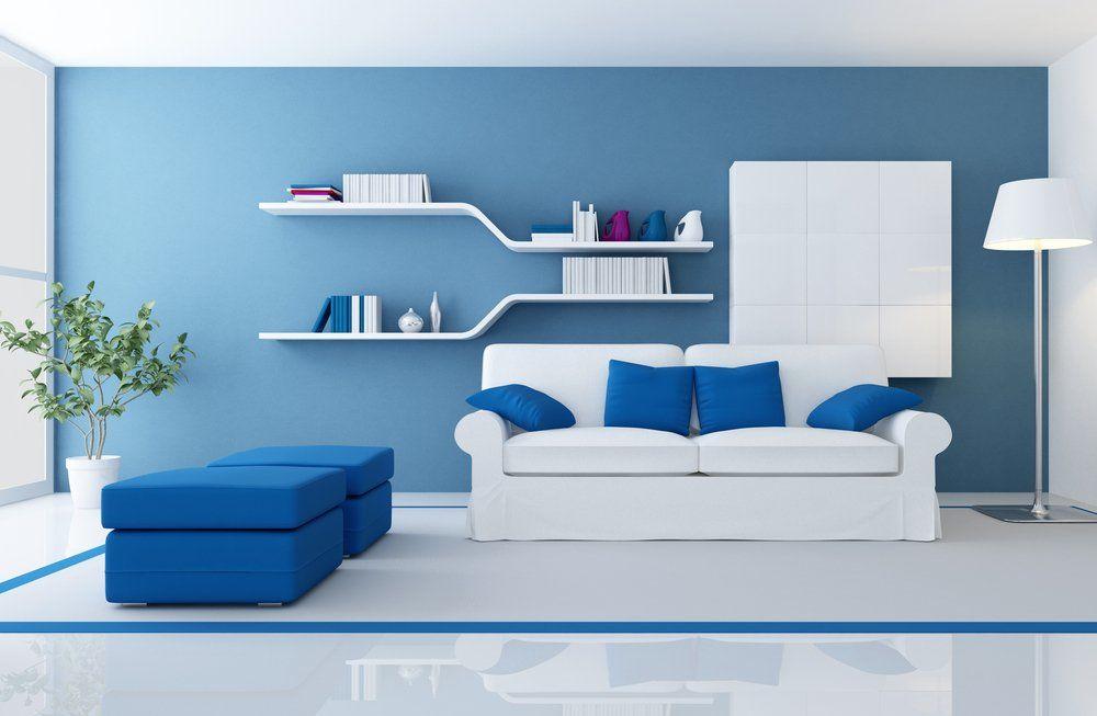 emejing farbgestaltung wohnzimmer blau ideas - house design ideas ... - Wohnzimmer Blau Weis