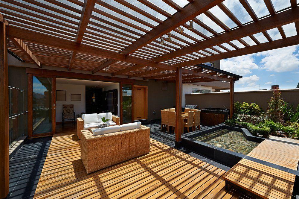 Haus Mit Dachterrasse Bauen pergola für die terrasse selber bauen · ratgeber haus & garten
