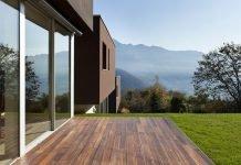 Terrasse Modern Fliesen Holzterrasse