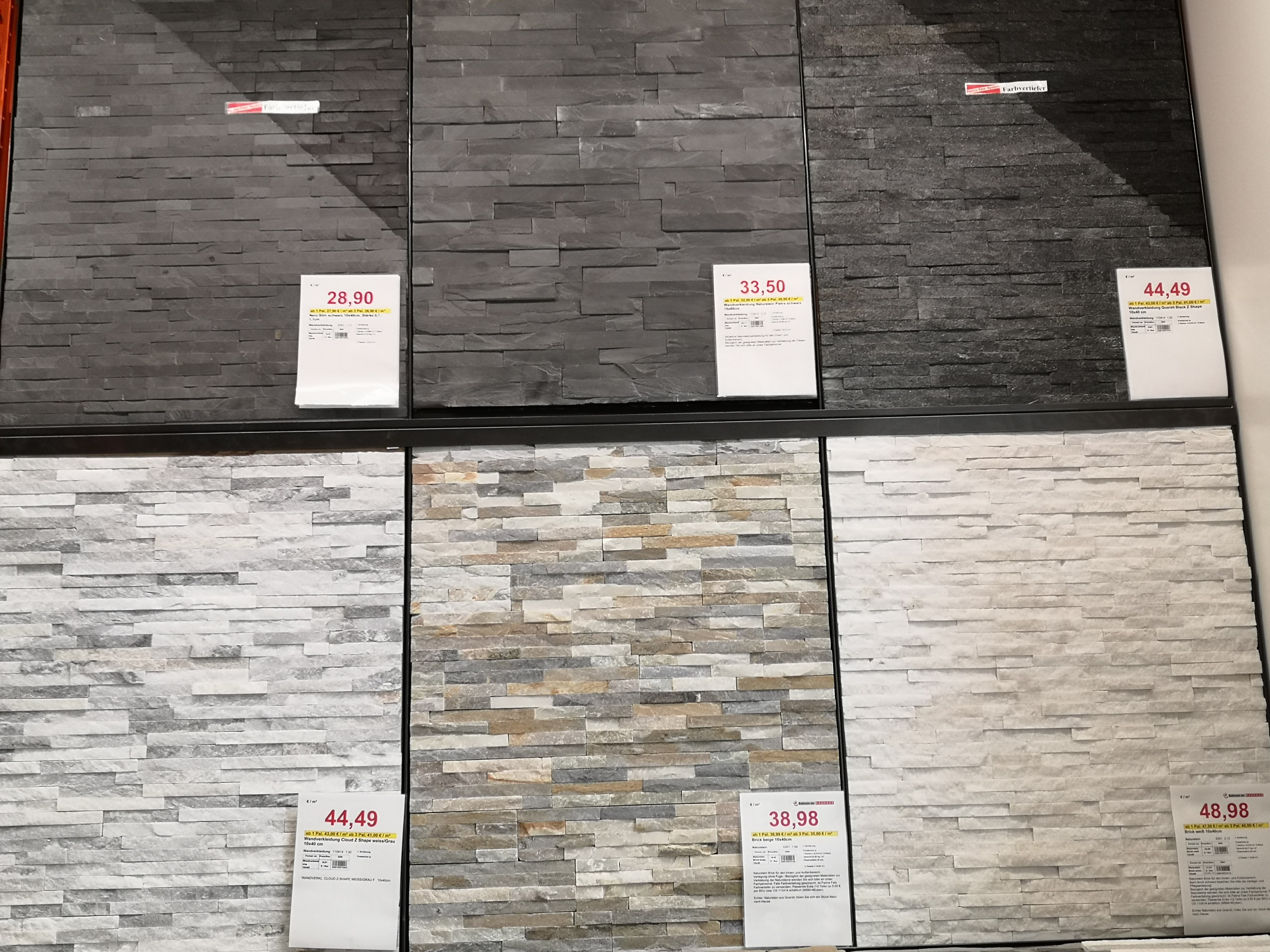 Küchenrückwand in Steinverblender Wandverblender