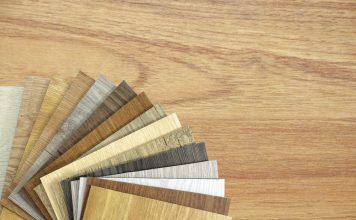 Auswahl an Bodenbelag Vinyl LaminT Struktur Boden und Farbe