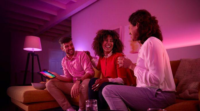 Philips Hue Innenbeleuchtung Starter Set Beleuchtung Wohnzimmer