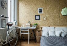 Pinnwand Schreibtisch Altbauwohnung Fahrrad Bett